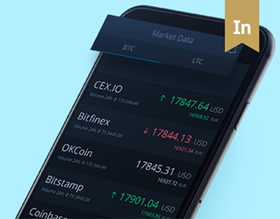 UX, UI for Cryptocurrency Exchange Mobile App