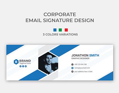 Corporate Business Email Signature Design Template