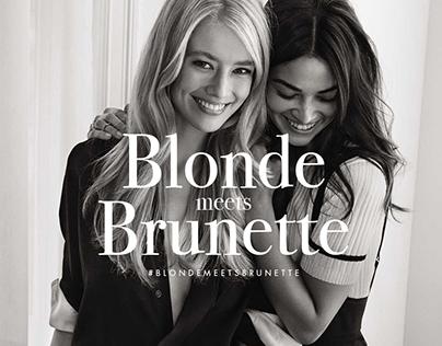 John Frieda // Blonde meets Brunette campaign