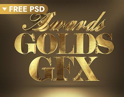 3D Gold Text Effect (FREE)