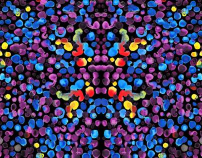 Colorful Ink Drop Textile Design
