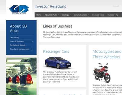 GB Auto IR Website (2013)