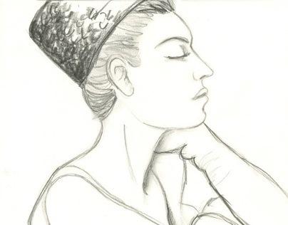 Fashion Sketching: Model Drawing Samples