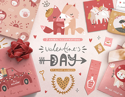 VALENTINES DAY   Clipart Collection