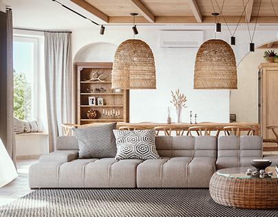 Дизайн интерьера загородного дома.