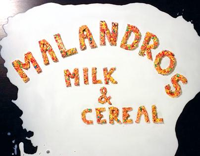 Malandros - Milk & Cereal Album Art Concept