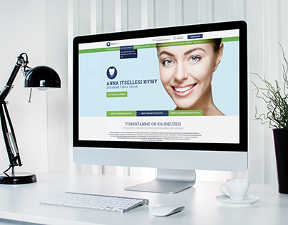 Website design for a Implantation clinic in Finland