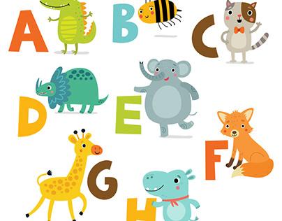 ZOO alphabet for children