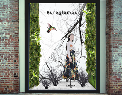 Pureglamour Apparel Window Display