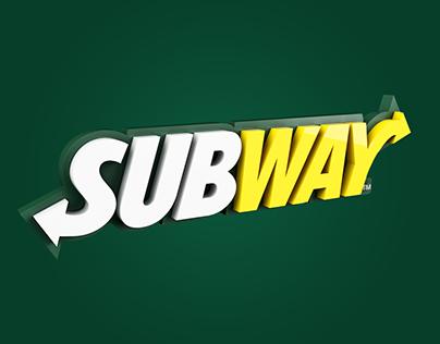 3D Logo - Subway
