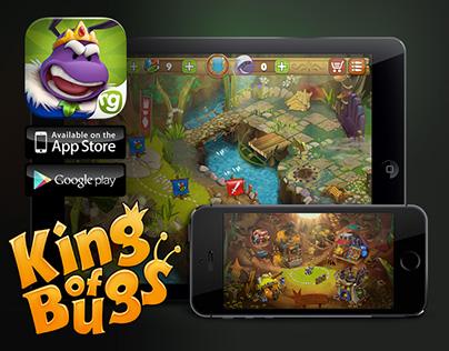 King of Bugs /Animation, Art, UI design, icons, promo/