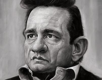 Johnny Cash Caricature.