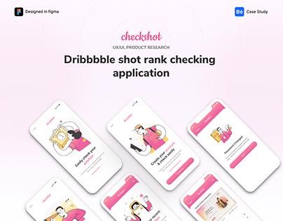 checkshot - dribbble shot rank checking mobile app