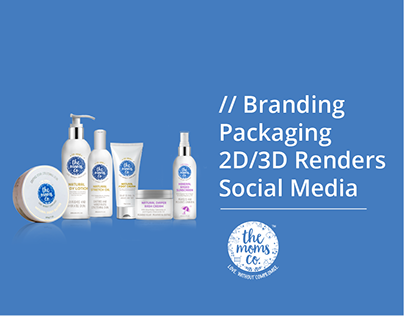 Branding, Packaging & 2D/3D Renders for The Moms co.