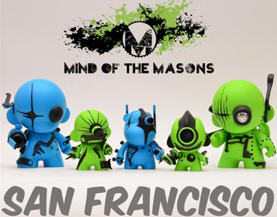 Kidrobot San Francisco x Mind of the Masons
