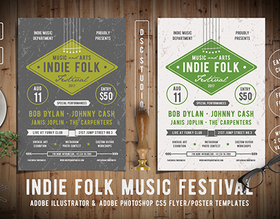 Indie Music & Event Flyers Template Collection