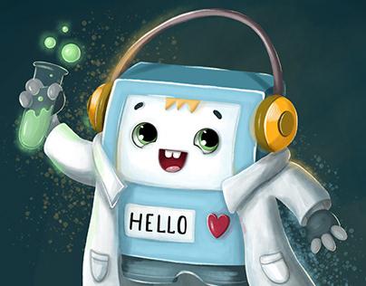 Robot Aleks character design
