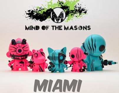 Kidrobot Miami x Mind of the Masons