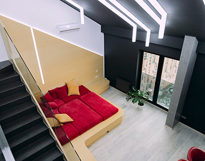 Three-level apartment for the champion in Kiev