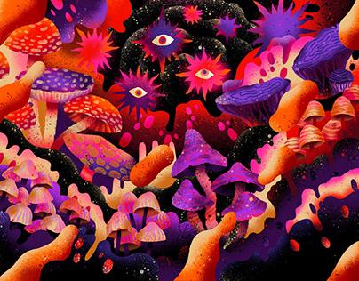Procreate 5 - Fungi Grotto