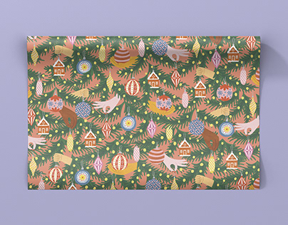 NEW YEAR WRAPPING PAPER PATTERNS