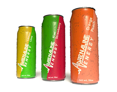 Adrenaline Energy - Logo, Branding and Packaging