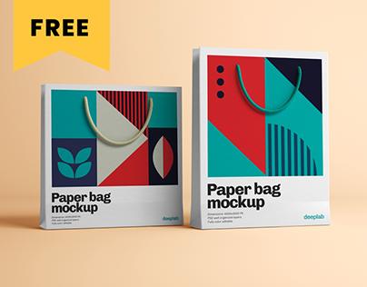 Paper Bag Mockup - FREE