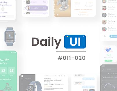 Daily UI   #011-#020