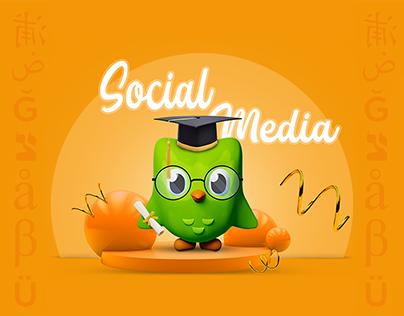 social media -Duolingo Application.