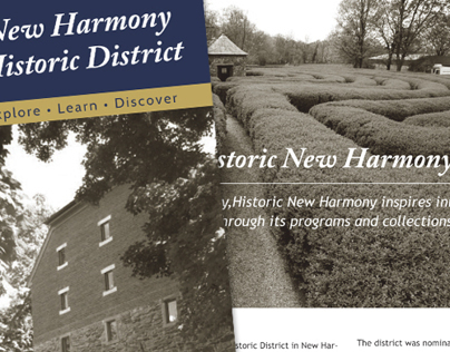 New Harmony Brochure Design