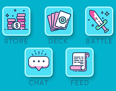 Card Battler UX & Icons