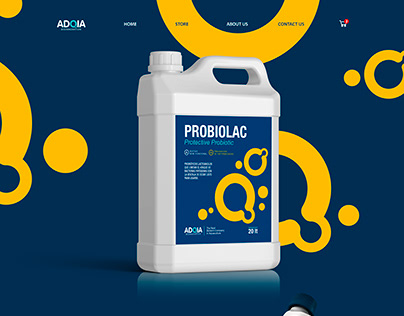 Website for ADQIA, Probiotic site - Country Ecuador