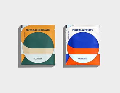 Ultimate Coffee Roastery Drip Coffee Packaging Design