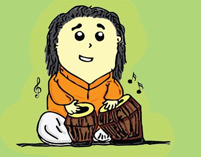 Illustrations for  Saptak Annual Music Festival 2017