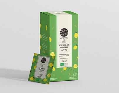 Pacakging tea bag for Goutte de thé
