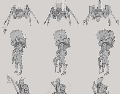Digital Sketches and  process. vol 1 .