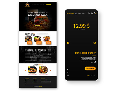 WEB SITE TEMPLATE DESIGN | RESTAURANT TEMPLATE |