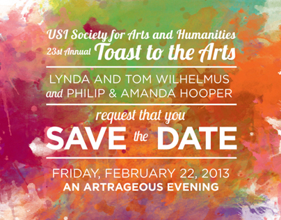 Toast to the Arts Invitation