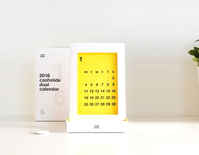 2016 cashslide dual calendar