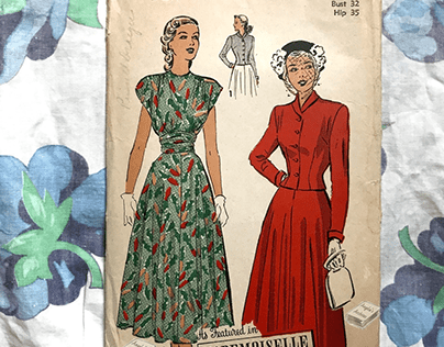 Vintage War Time Sewing Patterns