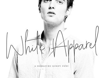 White Apparel   Script Font