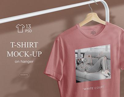 T-Shirt Mock-Up's on hanger