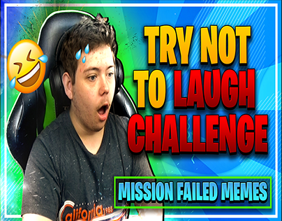 Try Not To Laugh Challenge Youtube Gaming Thumbnail
