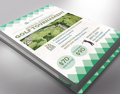 Retro Golf Tournament Flyer Word Publisher Template