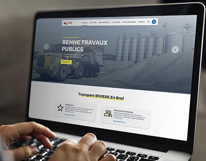 Transportation company website homepage design