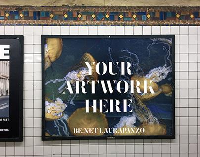 Free NYC Subway Ad Mockup .PSD