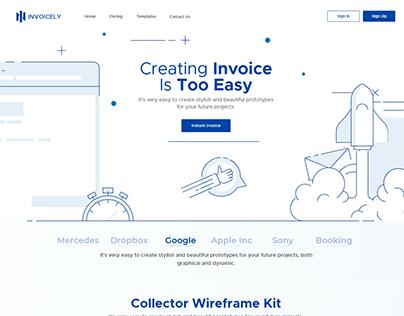 Invoicely Website Design