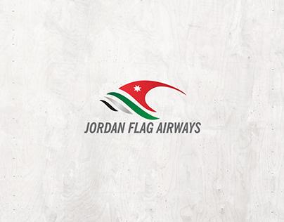 Jordan Flag Airways Logo Branding