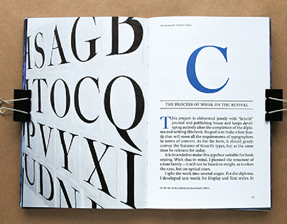 A Book About Designing a Font based on Rosart's Types