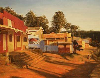 Romanticized East African Landscape Paintings
